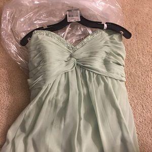 Long Mint Green Sweetheart Dress